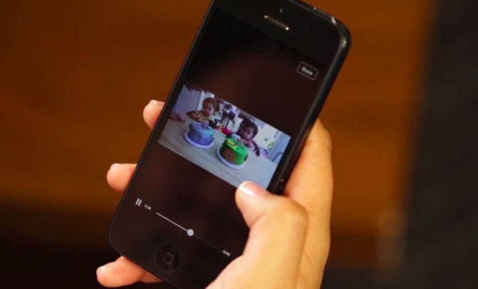 Facebook vídeo en el teléfono