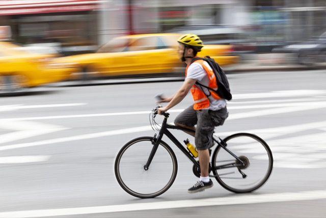 ciclista-de borrosidad por movimiento