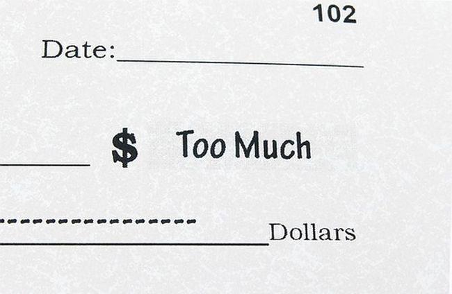 Demasiada deuda en el cheque