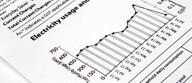 Electricidad Bill con el gráfico
