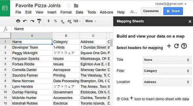 Ver Google hojas de datos de mapas