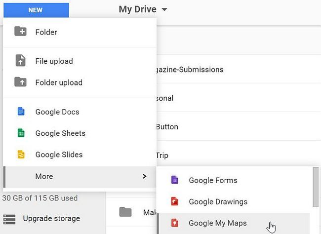 Google Maps Drive