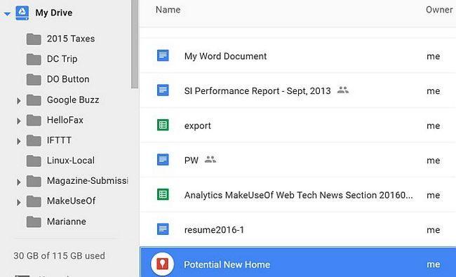 Google Drive mapas de potencial New Home