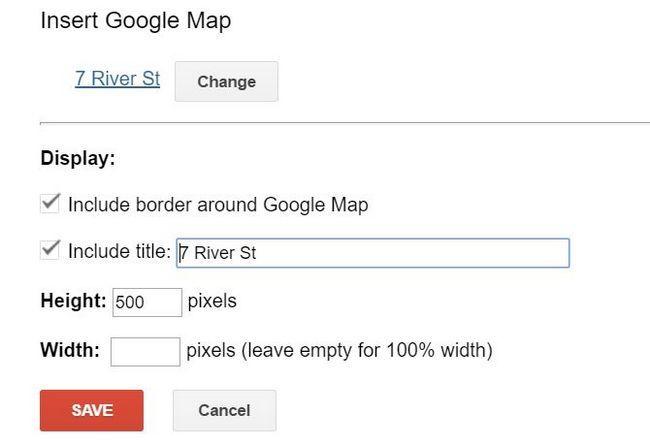 Inserción mapa de Google en un sitio