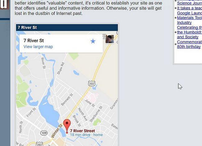 Ejemplo de Mapas Google Insertar