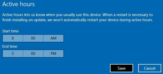 Windows 10 horas de actividad