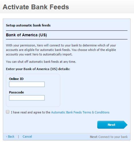 Xero-complemento bancaria