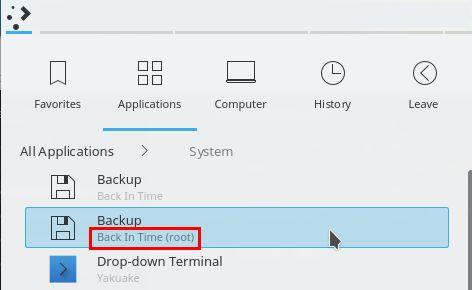 optimizar backintime copia de seguridad como root
