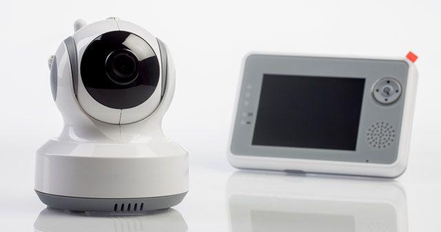 -creativa de seguridad entre la cámara y la supervisión