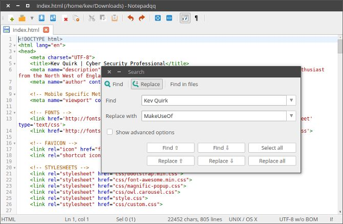 QQ libreta de archivos HTML
