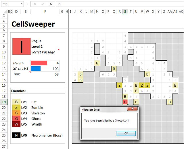 CellSweeper Microsoft Excel