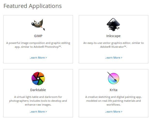 Creative-linux-distribuciones Fedora-design-aplicaciones