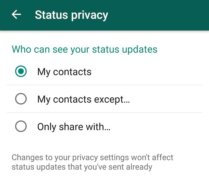 Nueva función de WhatsApp: el estado y la privacidad