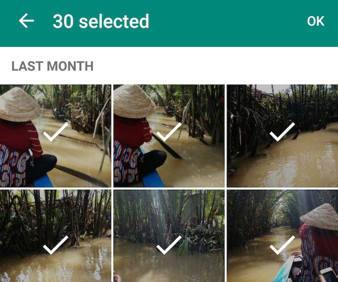 Nueva función de WhatsApp: compartir más fotos