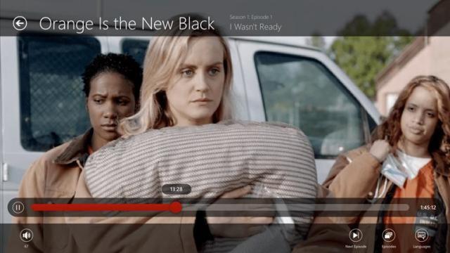 Windows 10 aplicación de Netflix