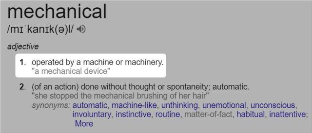 Google mecánica definida