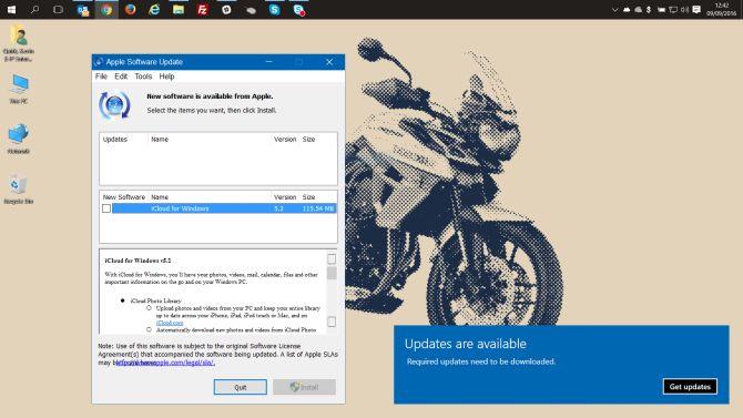Actualizaciones de Windows Popups