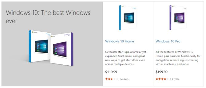 Comprar Windows 10