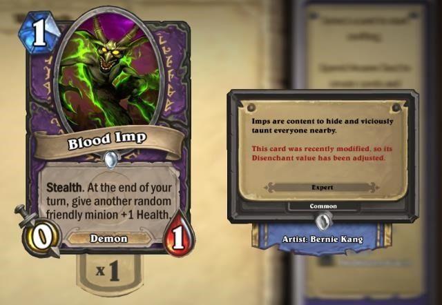 -Ha sido--hearthstone-este-card-fue-recientemente-Modified-so-su-disenchant-valor ajustado