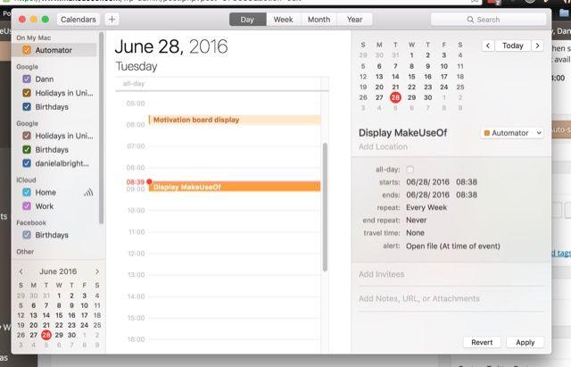 automator-calendario de eventos