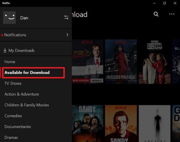 Netflix descarga ventanas 10