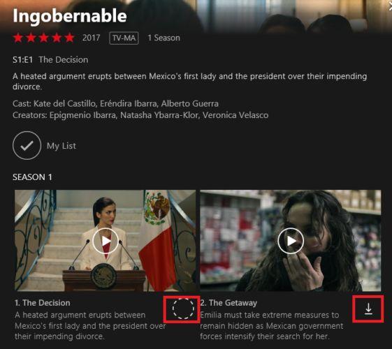 Netflix descarga ventanas episodio 10