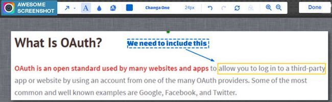 Impresionante pantalla Anotar Chrome
