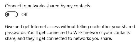 Windows 10 Wi-Fi Sentido