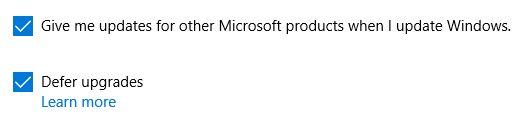 Las actualizaciones de Windows 10 Aplazar