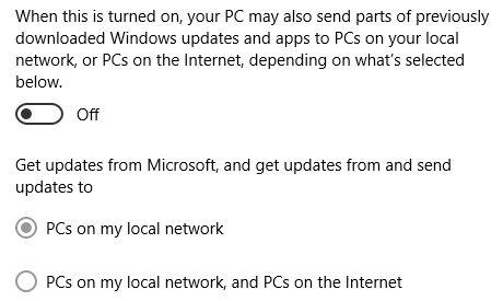 Actualizaciones de Windows 10 Compartir