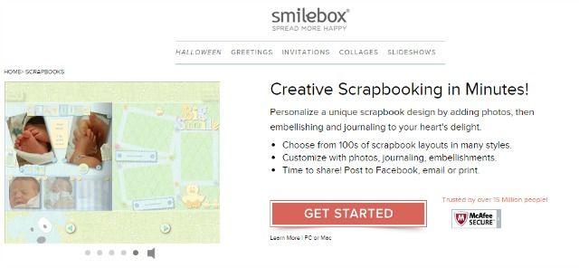 Smilebox pantalla