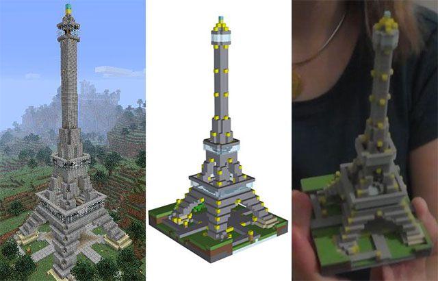 Minecraft-diy-3d-impresión