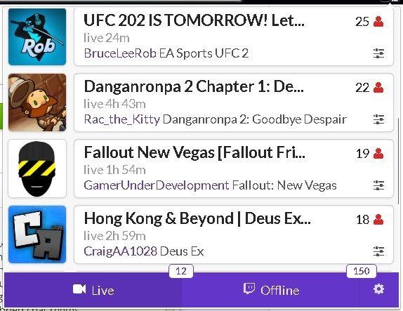 Twitch vivo extensión de Chrome