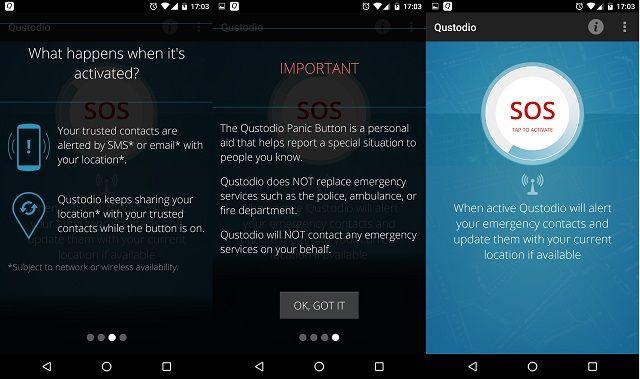 Qustodio-Android-pánico-Botón de pantalla