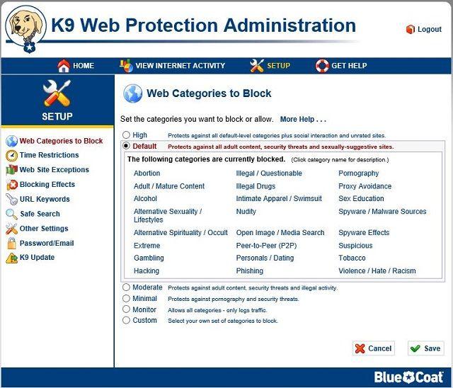K9-Configuración de pantalla