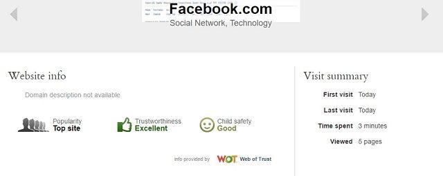 Qustodio-Facebook-Sitio Web de Registros de pantalla