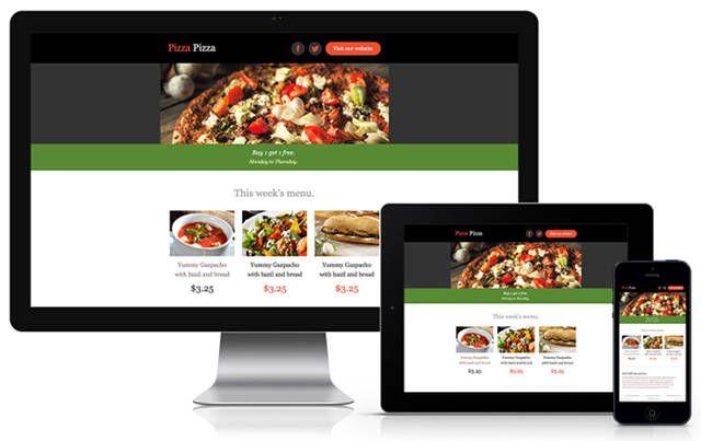 correo electrónico boletín-plantilla-Pizza