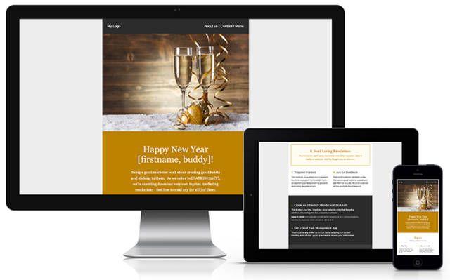 plantilla-newyears correo electrónico boletín;