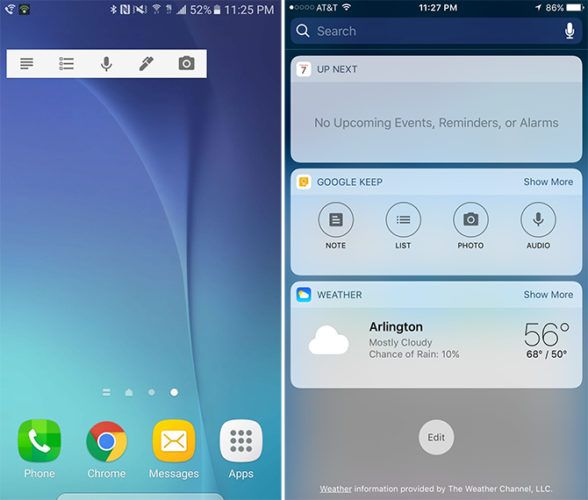 Google Keep accesorio para móviles