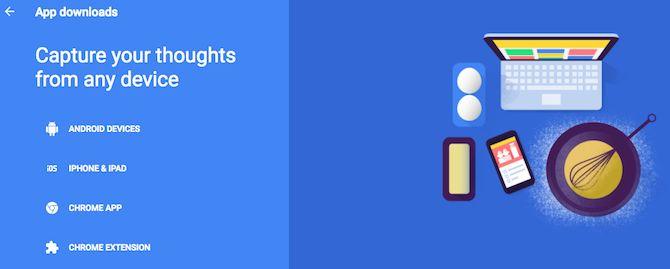 Google Keep aplicaciones