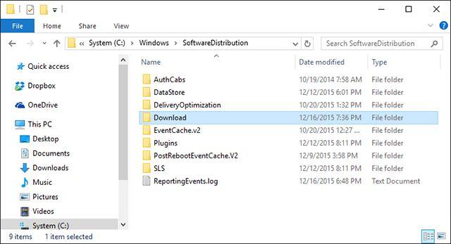claros-Windows-cache-ventanas de actualización
