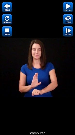 ASL Diccionario iOS App Captura de pantalla