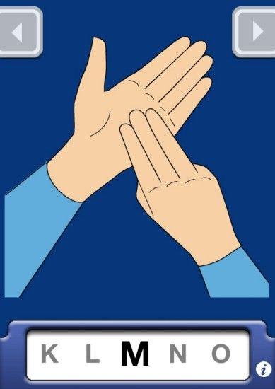 Lenguaje de signos británica iOS App Captura de pantalla