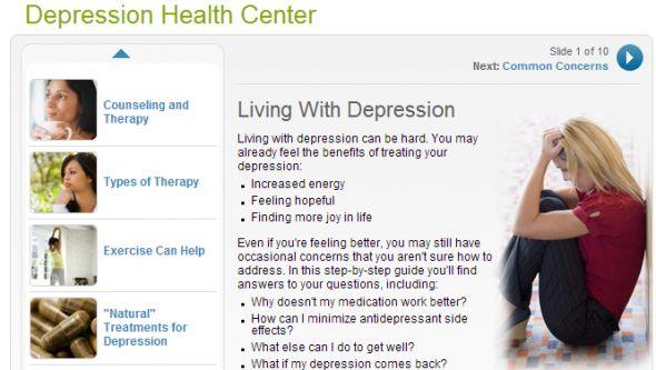 sitios web de la depresión
