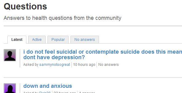 sitios para la depresión