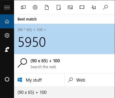 calculadora de búsqueda de Windows