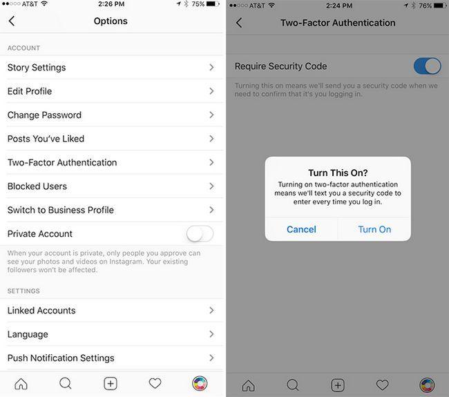 autenticación de dos factores en iOS
