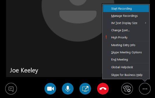 Comienzo del asunto de grabación de Skype