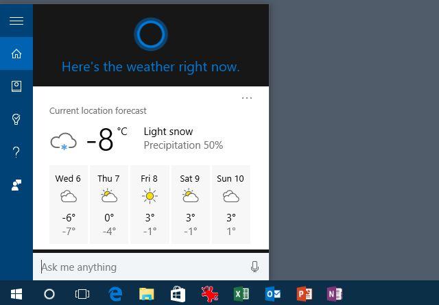 Cortana de vista previa