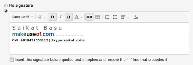 correo electrónico de firmas en la web